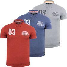 New Mens Crosshatch Truman Polo T Shirt Pique Polo Cotton Collared Short Sleeve