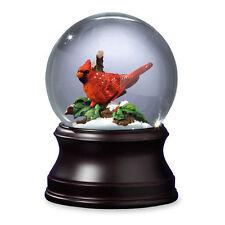 Gorgeous San Francisco Music Box Christmas Holiday Cardinal Snow Globe Brand New