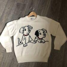VINTAGE 80s 90s Woolen Jumper Sweater Walt Disney 101 Dalmations Size L Grail