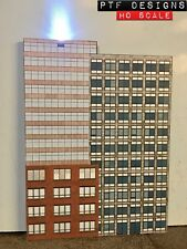 HO Scale Commercial #4 Combo Building Flat / Front 3D Background