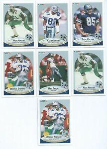 DALLAS COWBOYS x 7 Fleer 1990 NFL American Football Trading Cards