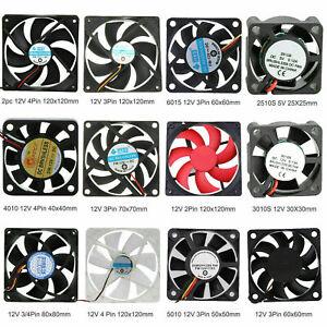 3 Pin Portable Computer Case Cooler DC 12V 7cm 70mm PC CPU Cooling Cooler Fan