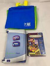 Leapfrog Quantum Pad Learning System 2 Cartridges 1 Book Schoolhouse Bag Vtech