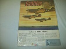 """1940's Cadillac Airplane Ad-""""Stalkers of Hidden Devilfish"""""""
