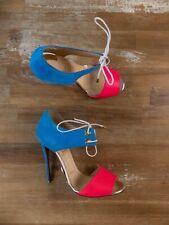 $1495 CHRISTIAN LOUBOUTIN Mayerling blue fuchsia sandals pumps - 6 US / 36 EU