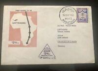 1962 Sudan #142 on Lufthansa 1st Flight Cover to Germany; malaria *d