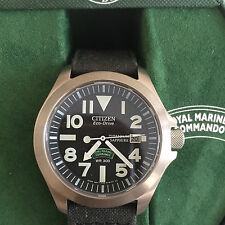 Citizen Eco-Drive ROYAL MARINES COMMANDO **BN0110-06E** Tough Men's Watch BNIB