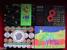 Australia.  Proof Sets - 1991, 1992, 1994 & 1995.    Total 4 Sets