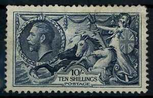 GB, KGV 1934 SG#452, 10s Indigo Seahorse MH #E89921