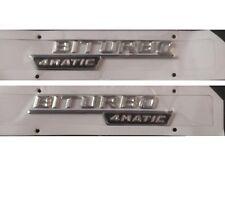2 BITURBO 4MATIC Briefe Kofferraum Abzeichen Emblem Aufkleber für Mercedes Benz