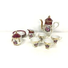 Vintage 1970's Lustreware Victorian Courting Teapot Set Japan #976