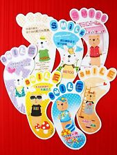 7X Foot Print Colorful Paper Bookmark Stationery Collection Accessories Kid Gift