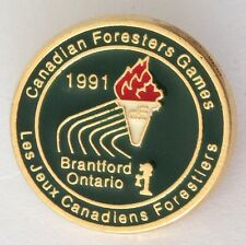 Canadian Foresters Games 1991 Brantford Ontario Bowling Club Badge Pin (M20)