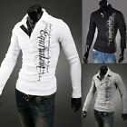 Hot Mens Stylish Slim Fit Casual Fashion T-shirts Polo Shirt Long Sleeve Tops BG