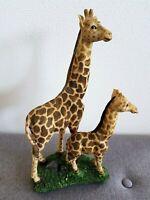 Rare Girafe et girafon en résine -Figurine Vintage, ancienne -Collectible Girafe
