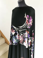 Stunning Artistic Orchid Lily Flower/Floral Stretch Jersey Dressmaking Fabric
