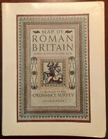 'ORDNANCE SURVEY MAP OF ROMAN BRITAIN' : 3rd. EDITION:1956 :16 Miles to One Inch