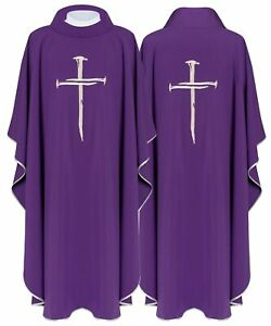 Purple Gothic Chasuble with matching stole KOR225-F us