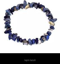 Nautral Lapis Lazuli Chips Stretchy Bracelet New