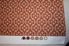 """P Kaufmann Indoor/Outdoor Fabric~Rust Cream Brown Print~3.5 Yds~54"""" Wide"""
