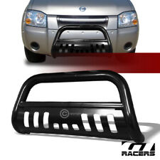 For 2001-2004 Nissan Frontier Black Hd Bull Bar Brush Bumper Grill Grille Guard