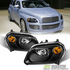 Black 2006-2011 Chevy HHR Replacement Headlights Headlamps 06-11 Set Left+Right