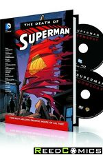 DEATH OF SUPERMAN HARDCOVER AND DVD BLU RAY SET New Hardback