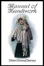 Bear Brand Manual #8 c.1905 - HUGE Pattern Book of Vintage Knitting & Crochet