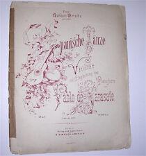 Spanish Dances for violin w/ piano accompaniment. German. Op. 22. Sarasate. 1879