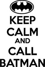 Keep Calm And Call Batman Decal/Sticker, Buy 1 Get 1 Free!