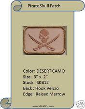 PIRATE HOOK BACKING DESERT PATCH - SKULL AND SWORDS - SKB07