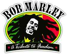 "Bob Marley Reggie Jamaica Music Car Bumper Window Sticker Decal 5""X4.1"""