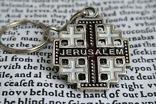 Jerusalem Christian Cross keychain key ring Crucifix holy charm крест распятие