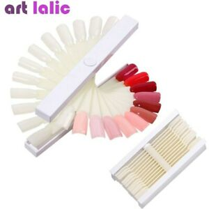 24Pcs Nail Art Spiral Fan Display Stand Sticks False Gel Tips Polish Color Card