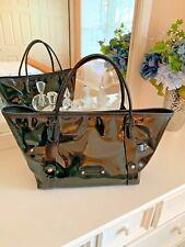 Salvatore Ferragamo Black Patent Leather Bag