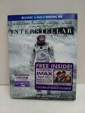 Interstellar (Blu-ray/DVD) w/ slipcover - Christopher Nolan- with film cell