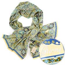 """New BRIONI Blue Green Abstract 72"""" Silk Scarf Shawl Wrap Headscarf Hijab NWT"""