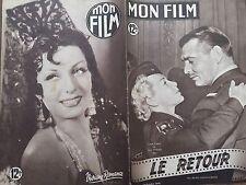 """MON FILM 1949 N 166 """" LE RETOUR""""-  avec FERNAND GRAVEY et LANA TURNER"""