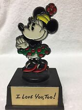 Rare Htf Disney Minnie Mouse Vintage I Love You Too Figure Valentines Day