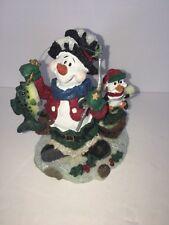 Fishing Snowman Figurine Holiday Decoration
