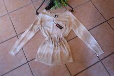 MILLION X Feinstrick Pullover Gr. 46 NEU! Sahara Töne Batik-Look Stretch