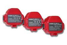 3x BATTERIE d'outil 3000mAh 12V rouge / gris pour Makita 1233 1234 1235