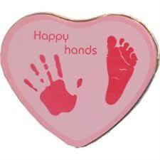 Pink Happy Hands Hand & Footprint Tin - Kit Baby Xplorys Blue