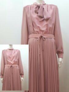 Stylisches Kleid True Vintage 80er 90er Jahre 40 42  Schlupp Plissee