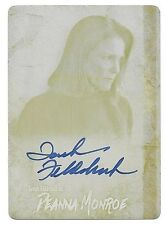 2016 Walking Dead Survival Box Tovah Feldshuh Yellow Print Plate Autograph #1/1
