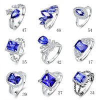 Free Jewelry Box Party Tanzanite 100% 925 Sterling Silver Ring Size L½ N½ P½ R½