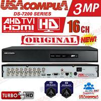 HIKVISION 16 CHANNEL DVR 16CH DS-7216HQHI-F2 TVI-AHD-CVI 3MEGAPIXEL