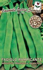 Semi/Seeds FAGIOLO Rampicante Monachella Senza Filo