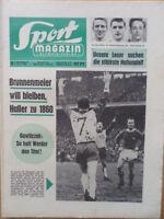 SPORT MAGAZIN KICKER 8 A - 15.2. 1965 * HSV-Bremen 0:4 Dortmund-Schalke 04 4:0