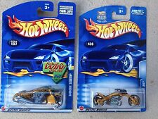 Lot of 2 HOT WHEELS: GOLD Scorchin' Scooter and Blast Lane, #197 and #136 M